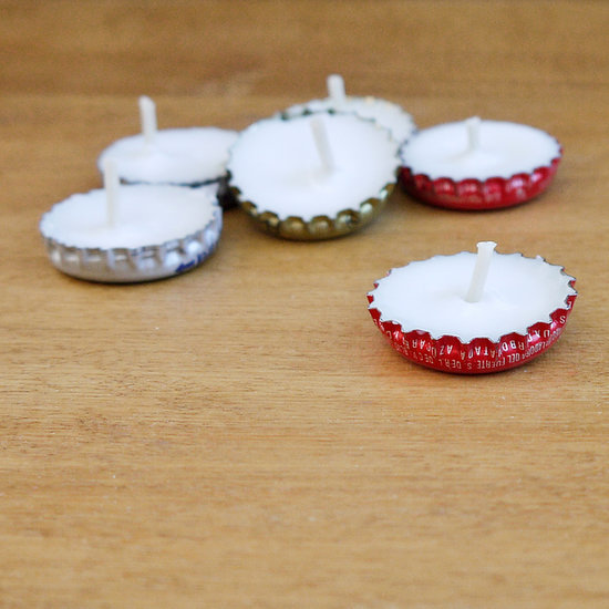 Easy DIY Bottle-Cap Candles