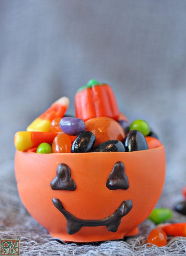 Edible Pumpkin Candy Chocolate Cups for Halloween