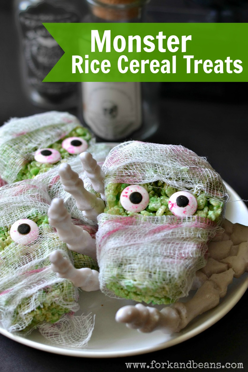 Green Monster Rice Krispie Treats