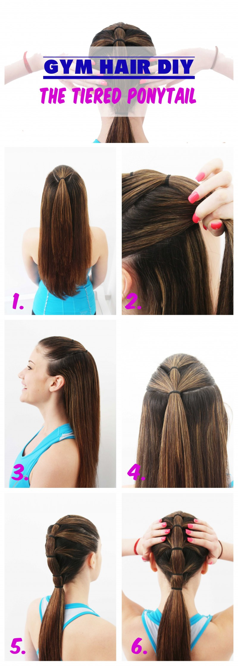 Gym Hair Tutorial : The Tiered Ponytail