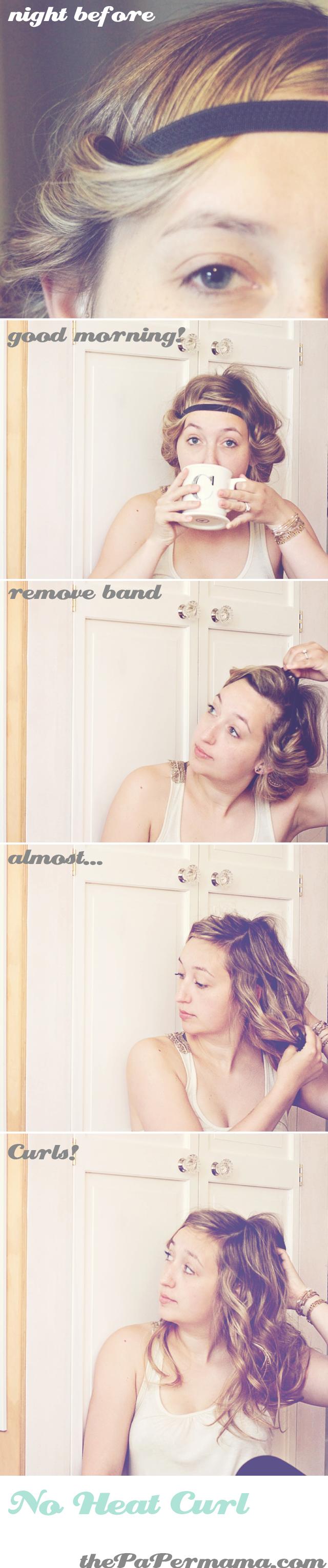 Hair Tutorial: No Heat Curl headband tutorial