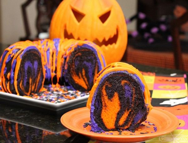 Halloween Rainbow Cake Recipe
