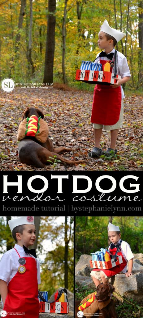 Hot Dog Vendor Costume