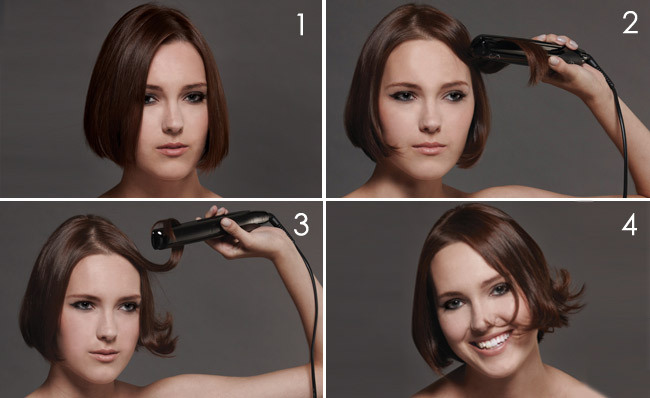 How To Curl Short Hair : A Nifty Trick for Short 'Dos