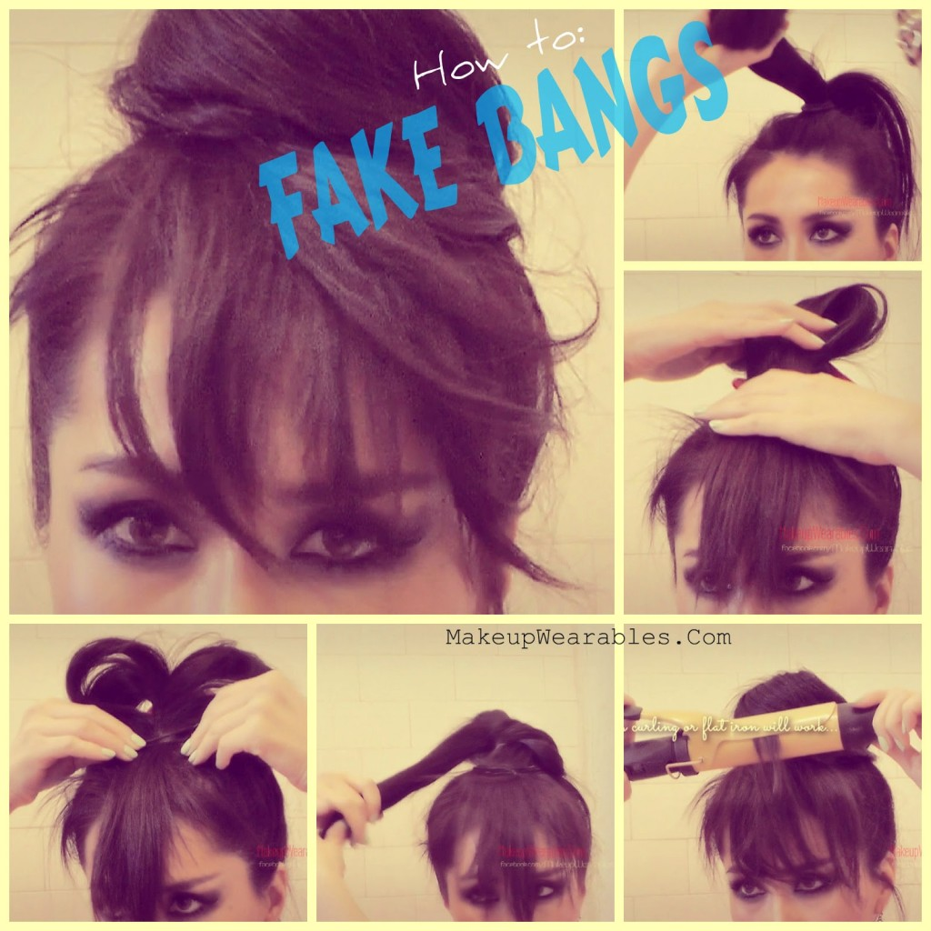How To Fake Bangs Cute Easy Bun Hairstyles