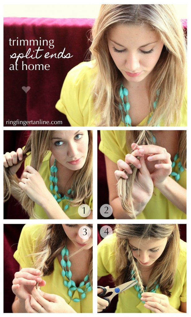 How To : Trim Split Ends At Home