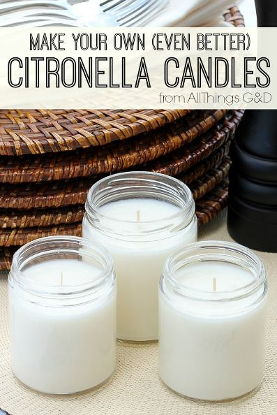 Make Your Own Citronella Candles