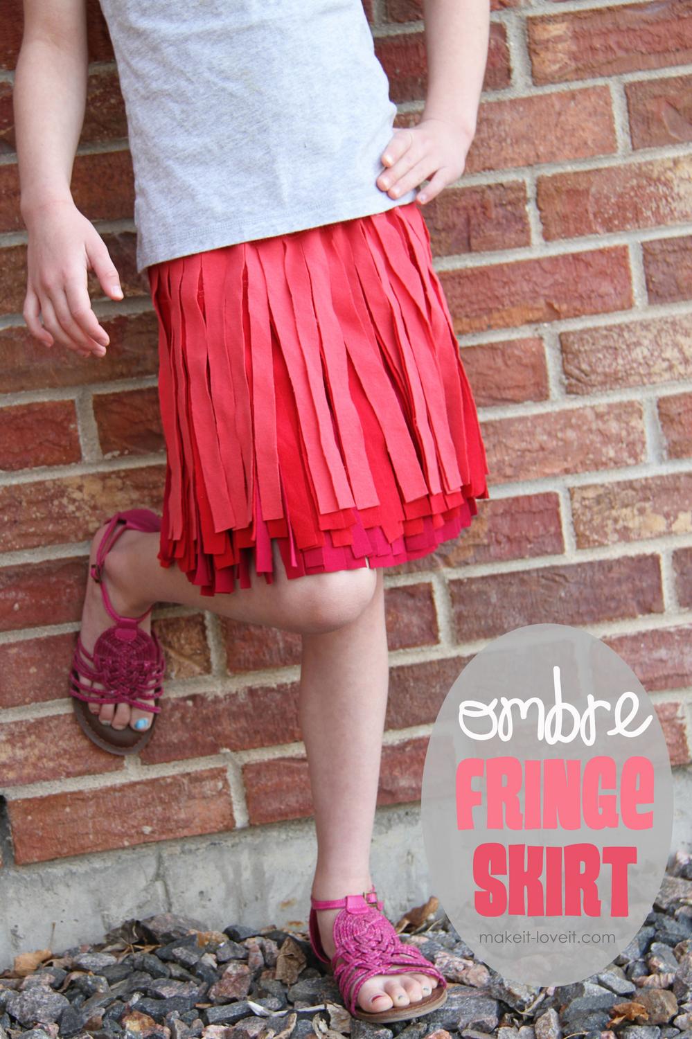 Ombre Fringe Skirts Made From Old Shirts