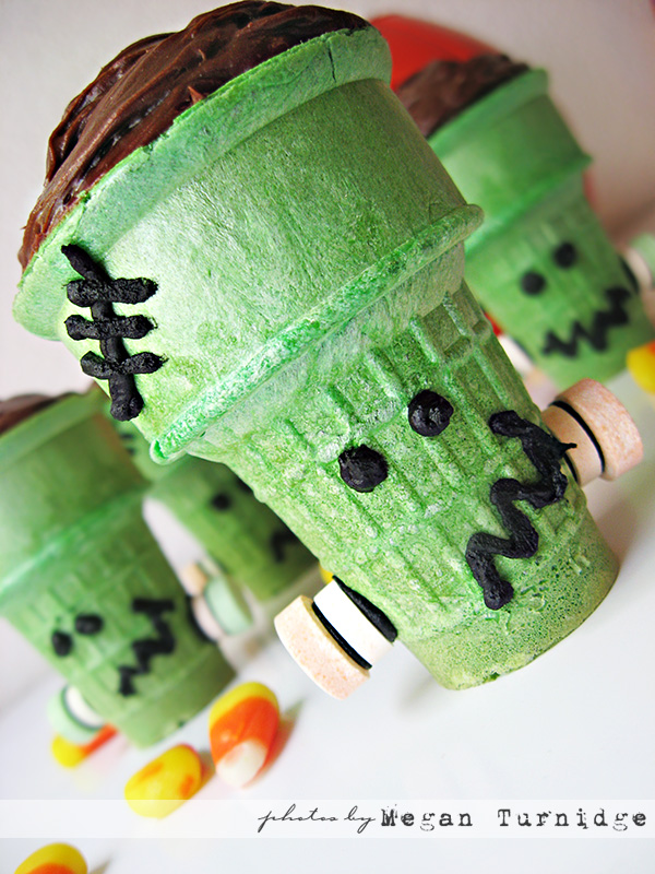 Some Pretty Darn Adorable Frankenstein Cupcakes
