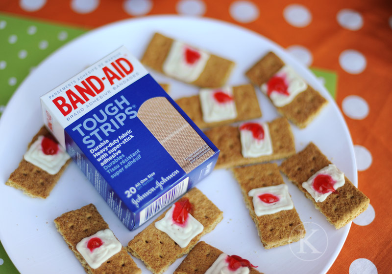Used Band-Aid Snacks For Halloween
