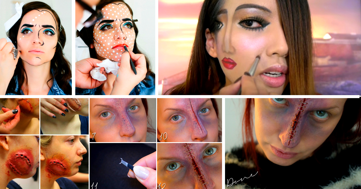 28 creative diy halloween makeup ideas for 2017 solutioingenieria Images