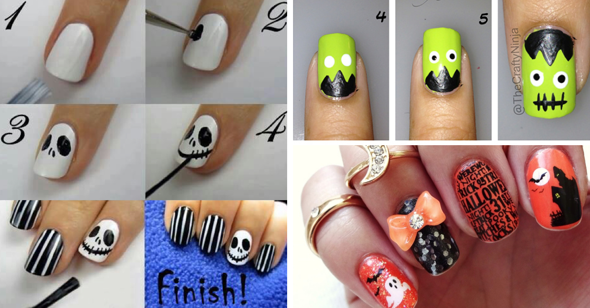 40 best halloween nail art inspirations for 2017 - Halloween Easy Nail Art