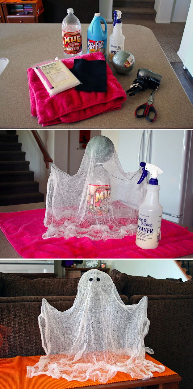 1 a floating ghost - Craft Halloween Decorations