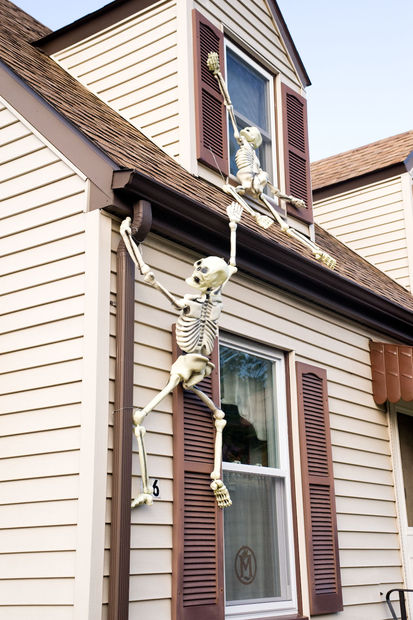 Climbing Halloween Skeletons