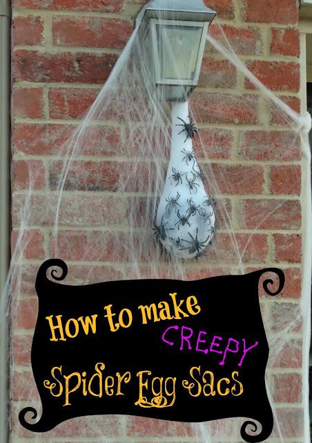 50 easy diy outdoor halloween decoration ideas for 2016 47 creepy spider egg sac