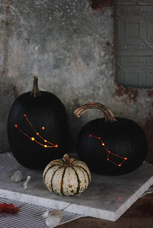 Superb DIY Constellation Pumpkins