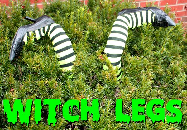 diy witch legs - Outdoor Halloween Decorations Diy
