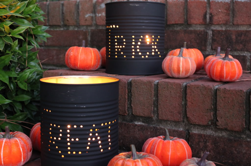 Do It Yourself : Halloween Tin Can Luminaries