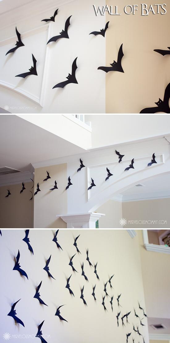 Easy Diy Decor Wall Of Bats