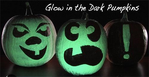 Glow In The Dark Halloween Pumpkins