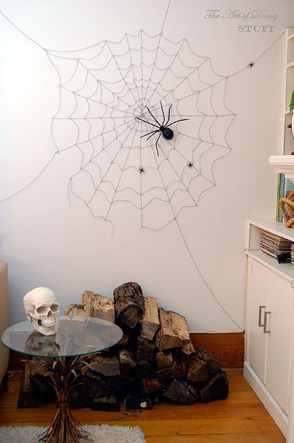 halloween decorations wall spider web