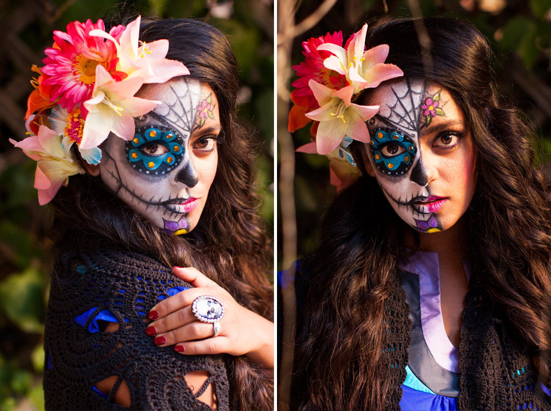How to Paint a Sugar Skull On Your Face!