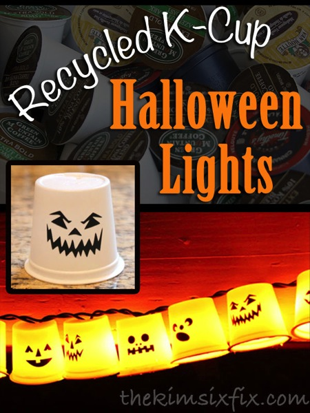 K-Cup Recycled Garland - Ghosts By Day, Pumpkins By Night