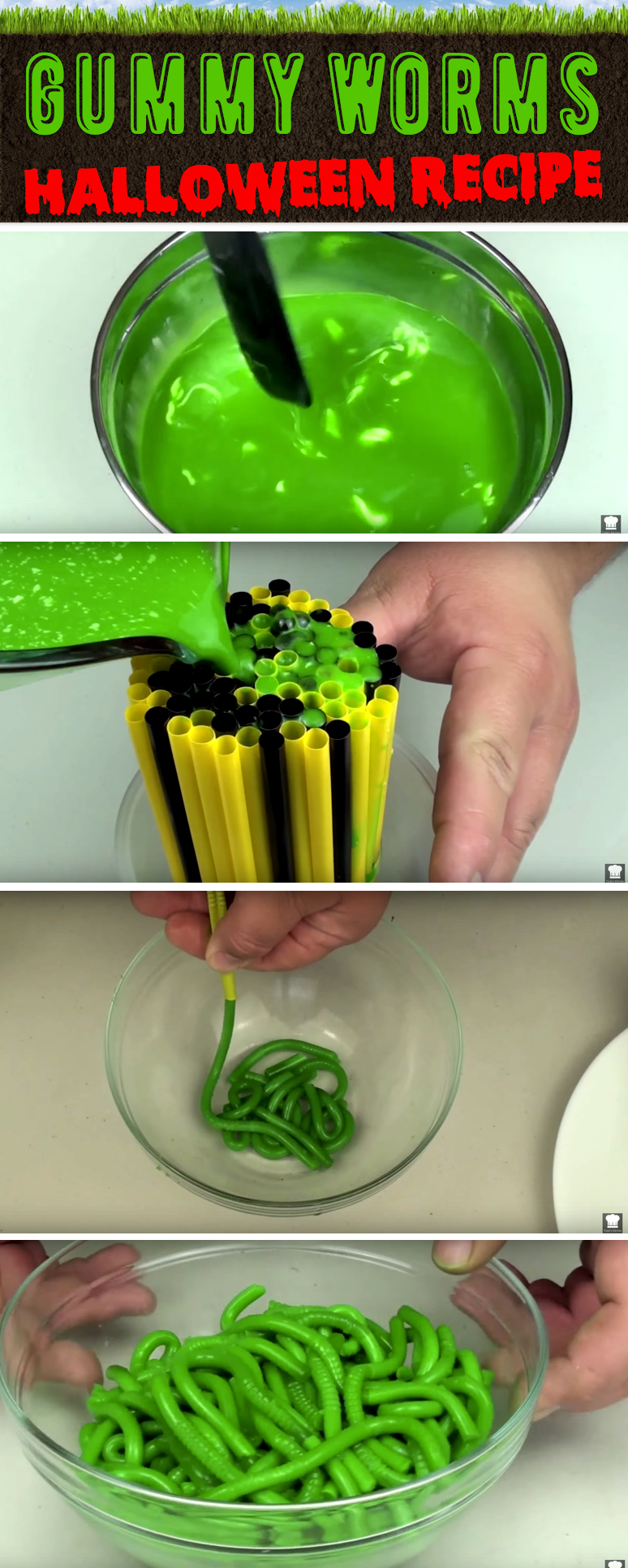 Make Your Own Juicy, Slimy Gummy Worms This Halloween