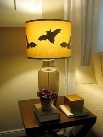 Making Paper Bats For Lamp Shades