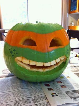 Ninja Turtle Pumpkin