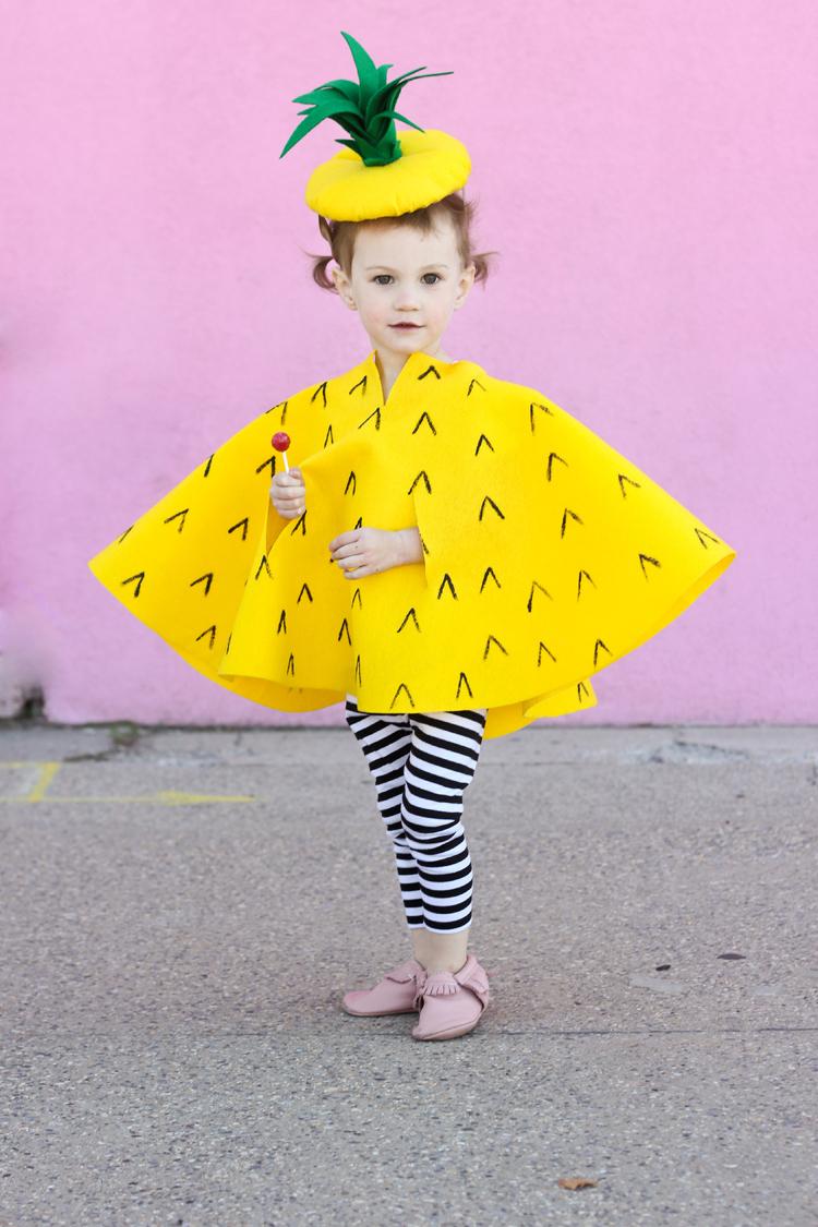 No Sew Pineapple Halloween Costume