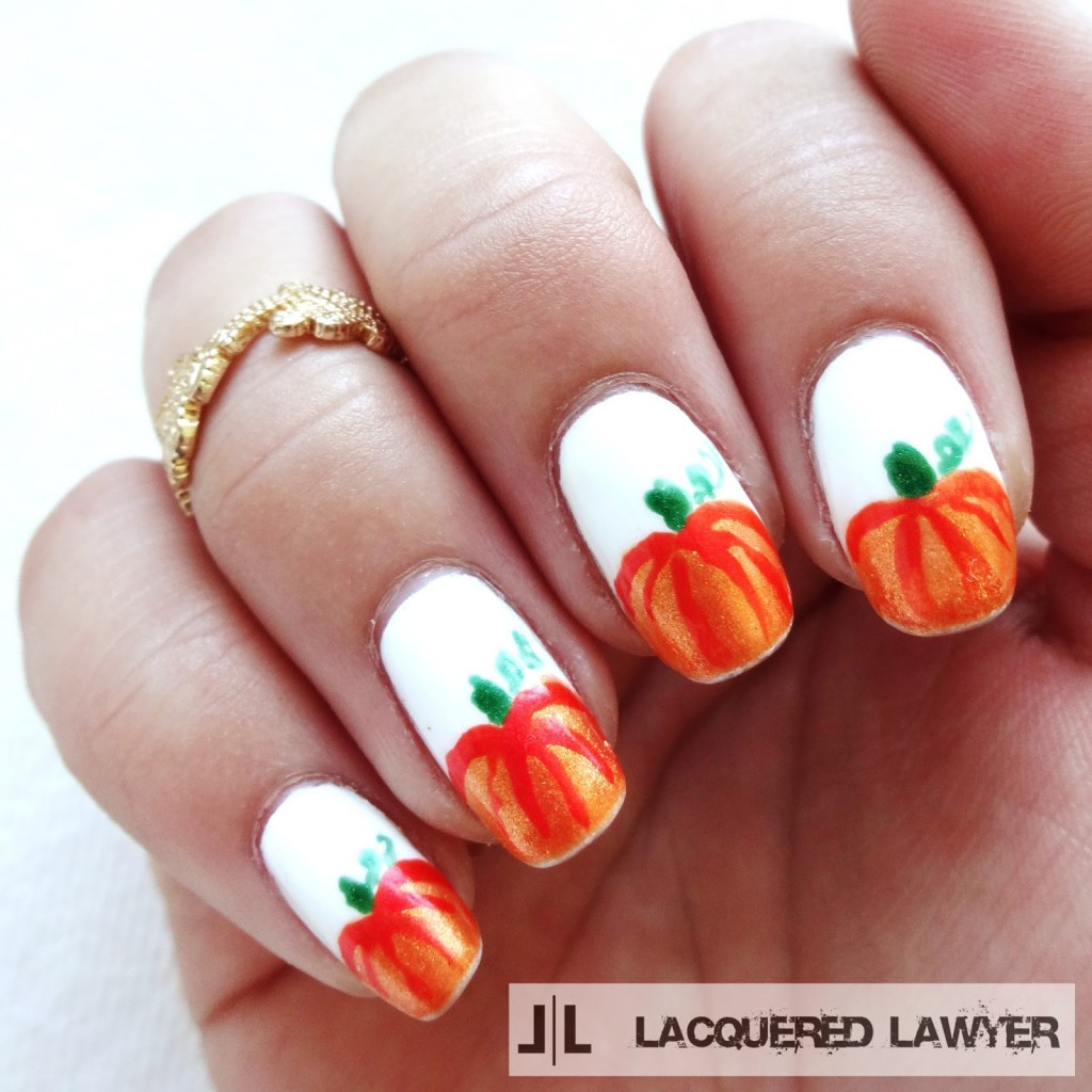 40 best halloween nail art inspirations for 2017 pumpkin patch nail tutorial prinsesfo Choice Image