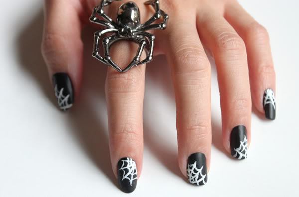 40 best halloween nail art inspirations for 2017 spiderweb nails prinsesfo Choice Image