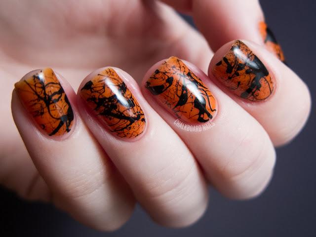 Spooky Splatter Nails Tutorial