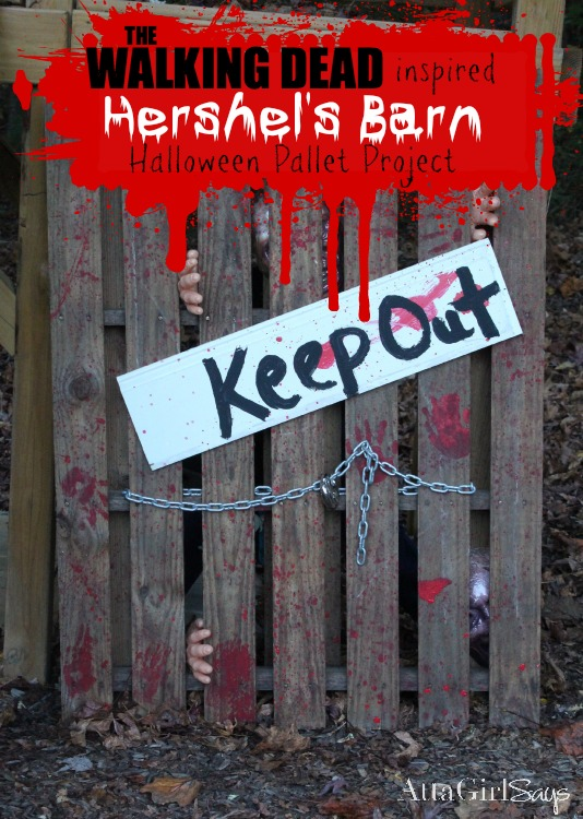 Walking Dead Halloween Decorations: Hershel's Barn Pallet Project