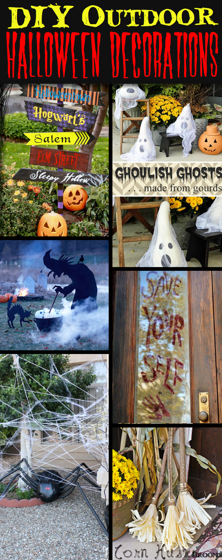 Diy outdoor halloween decor - 30 Astounding But Easy Diy Outdoor Halloween Decoration Ideas