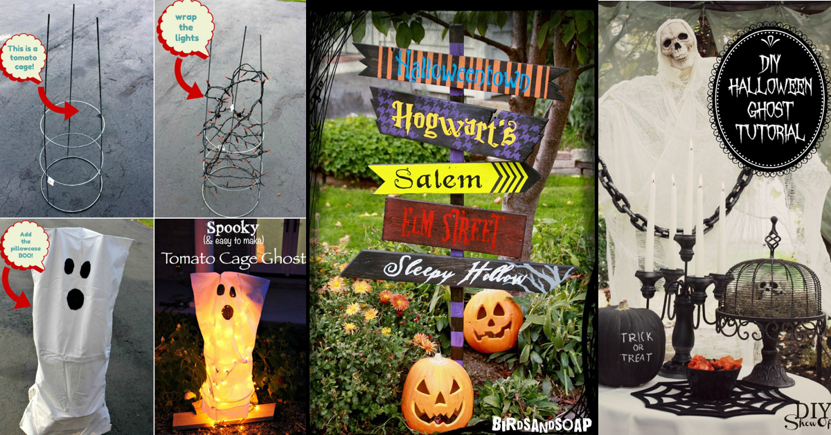 50 easy diy outdoor halloween decoration ideas for 2017 - Diy Halloween Outdoor Decorations