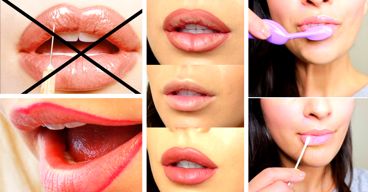 Kylie jenner / angelina jolie lips without injections makeup.