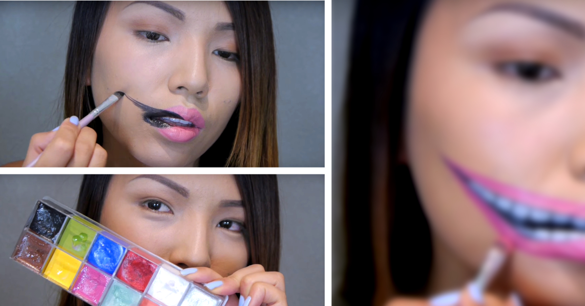 Chic Yet Spooky Stretched Lips Makeup For Halloween Cute