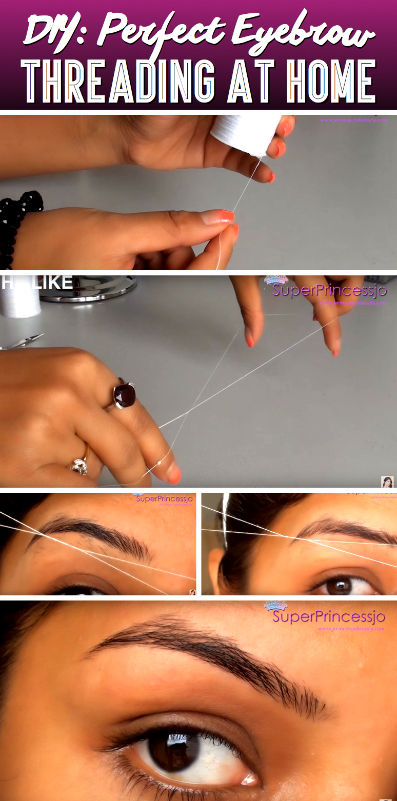 Diy Eyebrow Threading To Beautify Your Eyebrows Instantly Cute