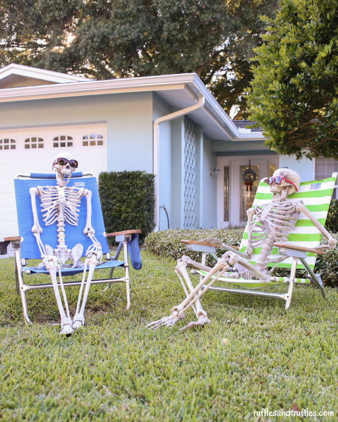 diy skeleton lawn decorations - How To Decorate For Halloween Outside