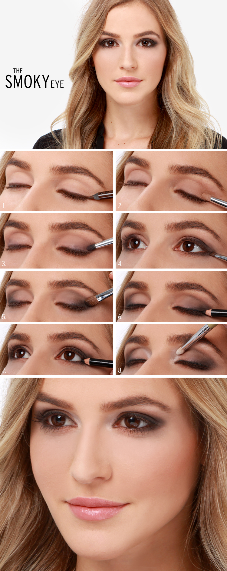 20 breathtaking smokey eye tutorials to look simply irresistible fall classic smokey eye makeup tutorial baditri Image collections