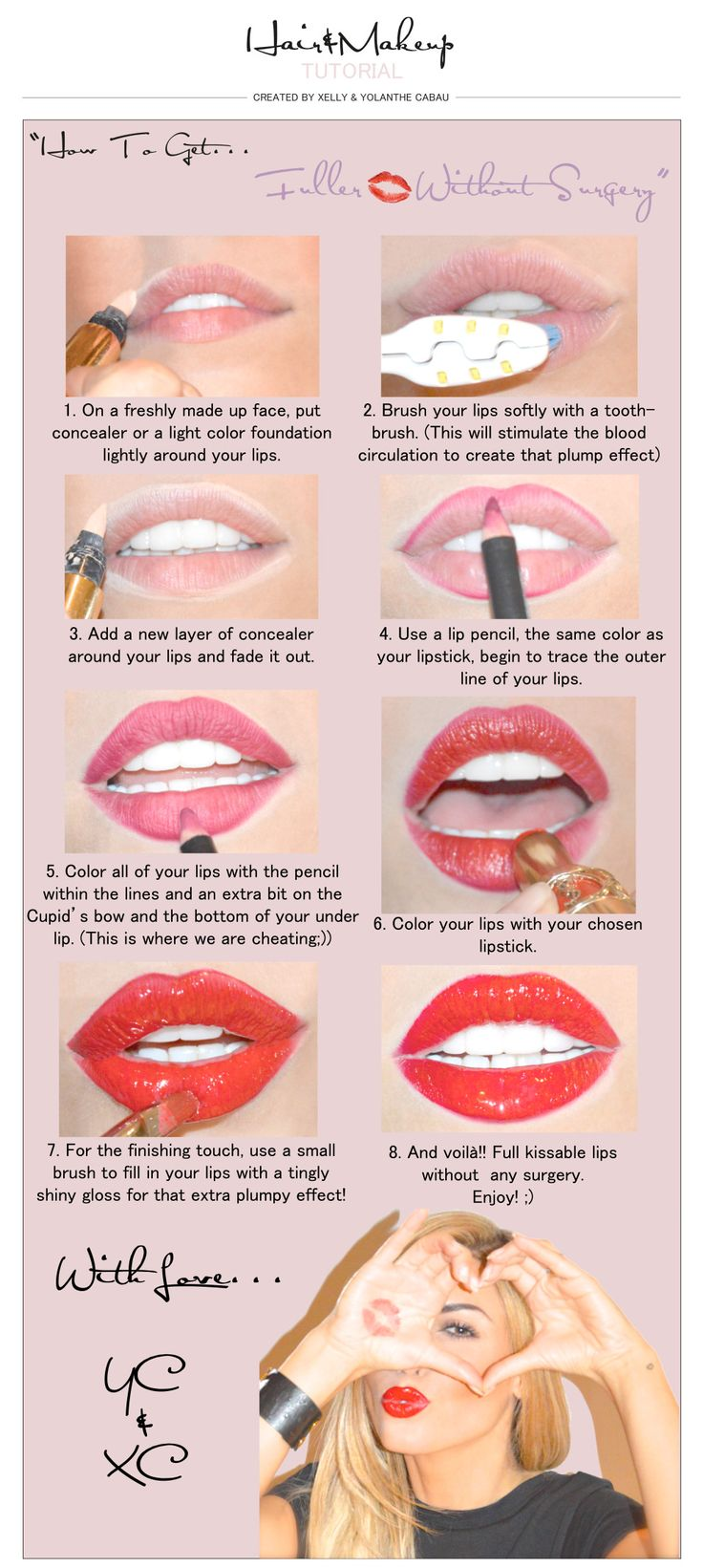 30 Fuller Lips Tutorials To Get You All Set To Pucker Up