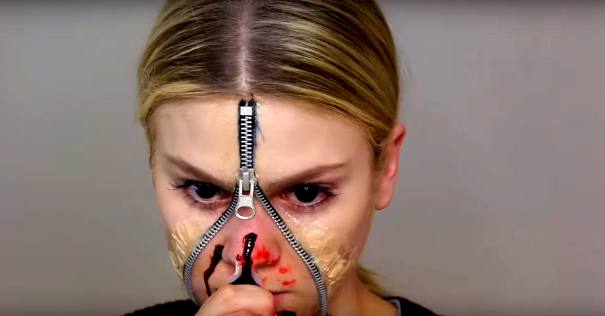 Get All Gruesome and Spooky With This Unzipped Zipper Face ...