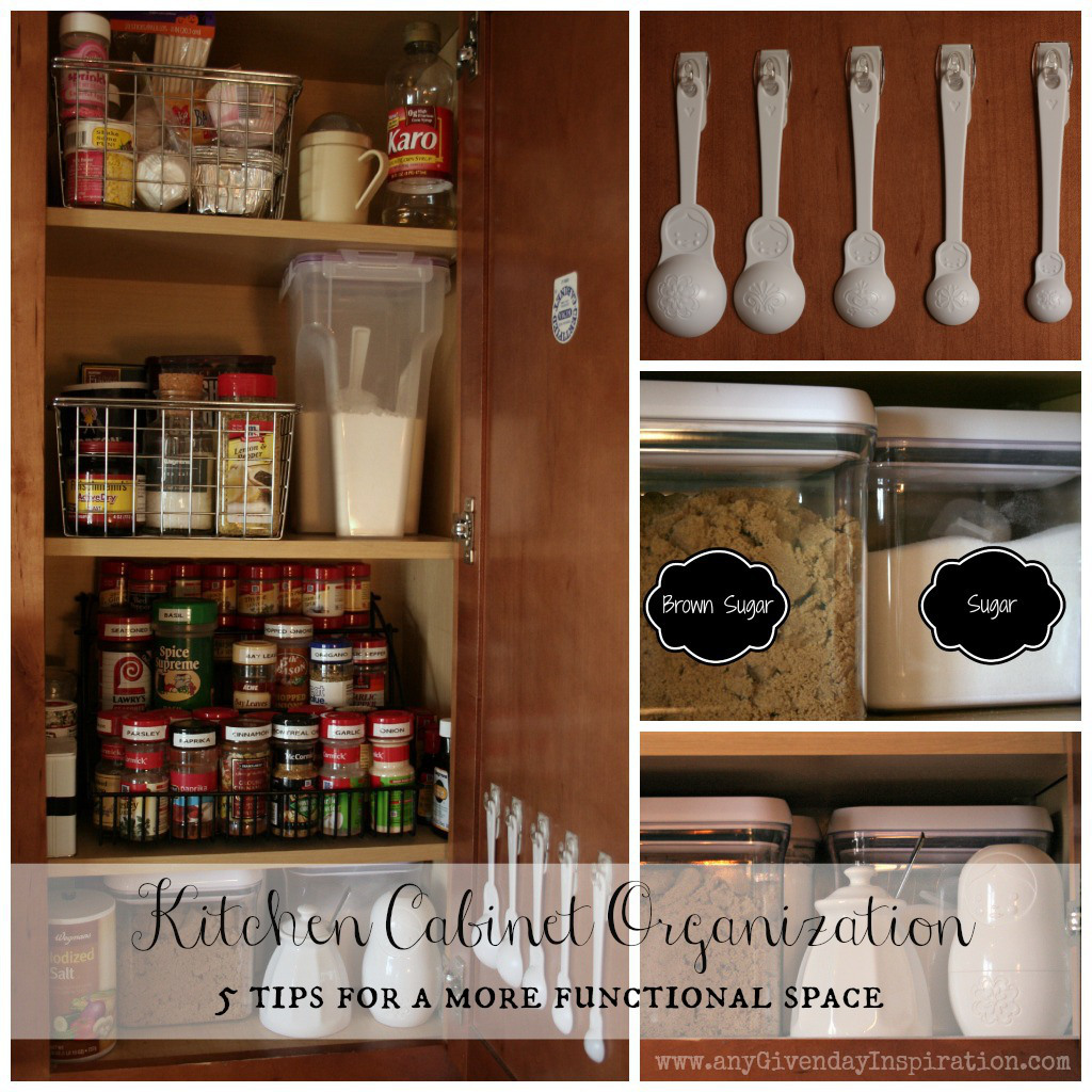 Organize Kitchen Cabinets