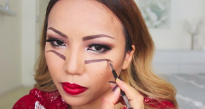 Freak Out The Trick-or-Treaters With This Double Vision Halloween Makeup