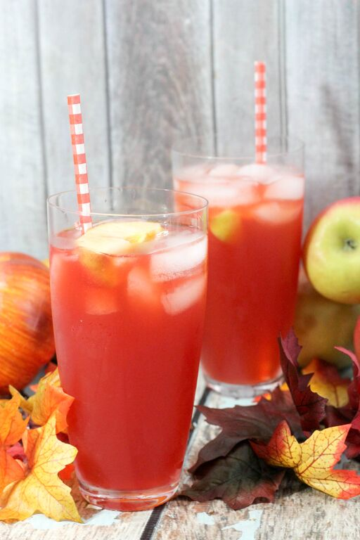 Poison Apple Halloween Drink for Kids with Homemade Apple Cider