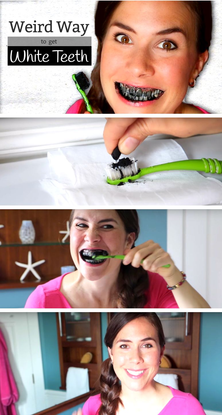 She Brushes Activated Charcoal Onto Her Teeth. The Results? Your Smile Will Sparkle!