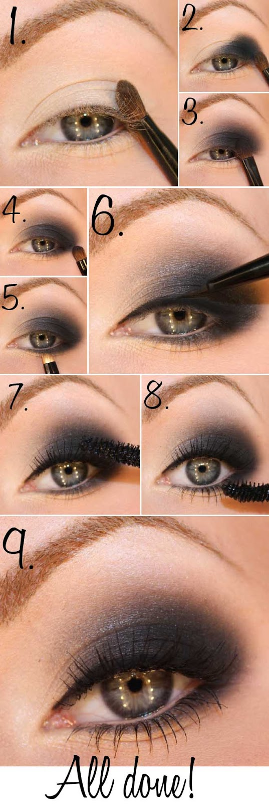 20 breathtaking smokey eye tutorials to look simply irresistible cute diy projects. Black Bedroom Furniture Sets. Home Design Ideas