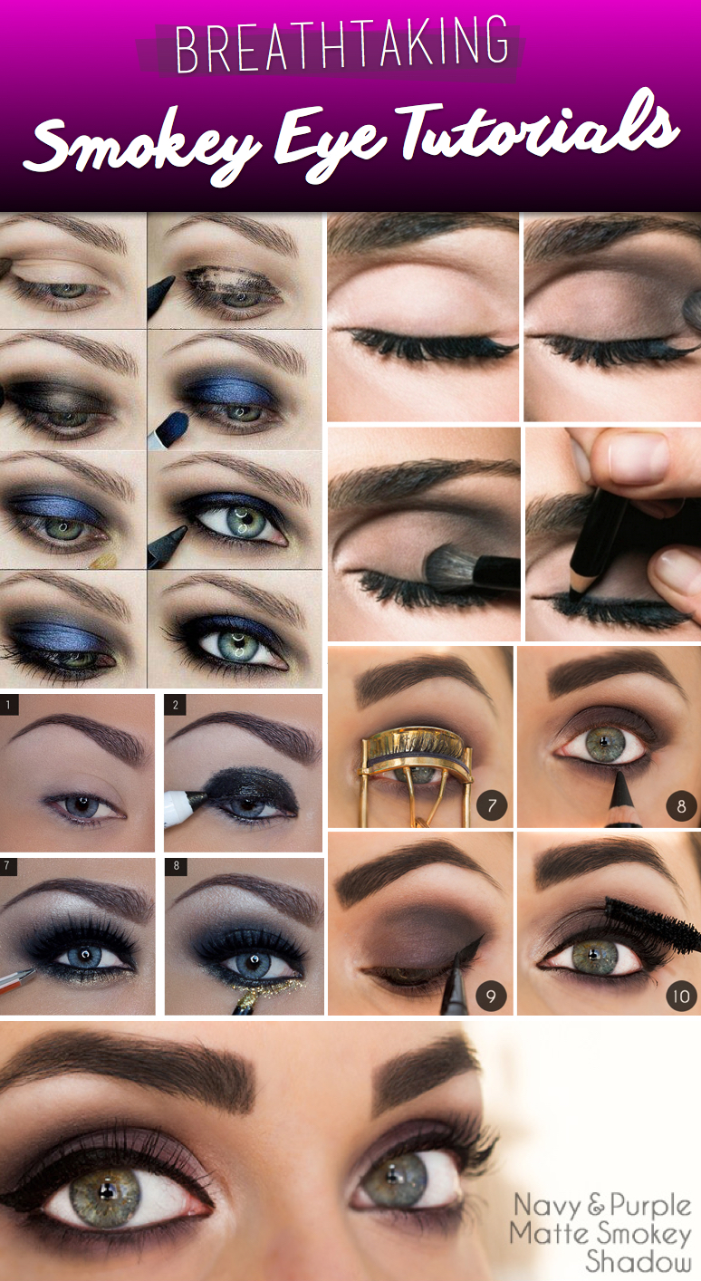 20 breathtaking smokey eye tutorials to look simply irresistible smokey eyes tutorials baditri Choice Image